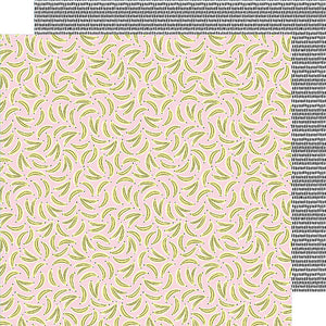 American Crafts Papers - Amy Tangerine - Stay Sweet - Go Bananas - 2 Sheets