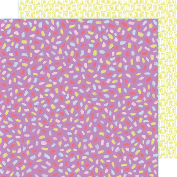 American Crafts Papers - Amy Tangerine - Stay Sweet - Magenta Fiesta - 2 Sheets