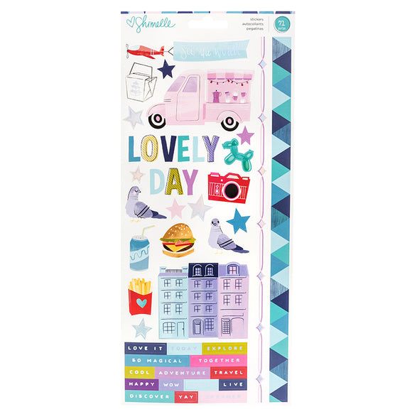 American Crafts Cardstock Stickers - Shimelle - Sparkle City