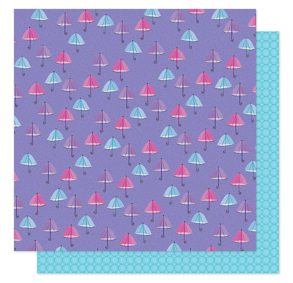 American Crafts Papers - Shimelle - Sparkle City - Rainy Day - 2 Sheets