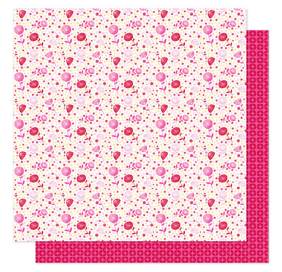 American Crafts Papers - Shimelle - Sparkle City - Polka Dot Pansy - 2 Sheets
