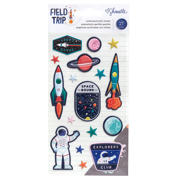 American Crafts Puffy Stickers - Shimelle - Field Trip