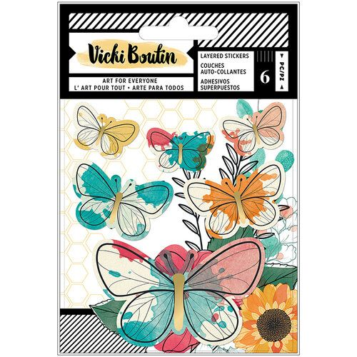 Vicki Boutin Layered Stickers - Wildflower & Honey