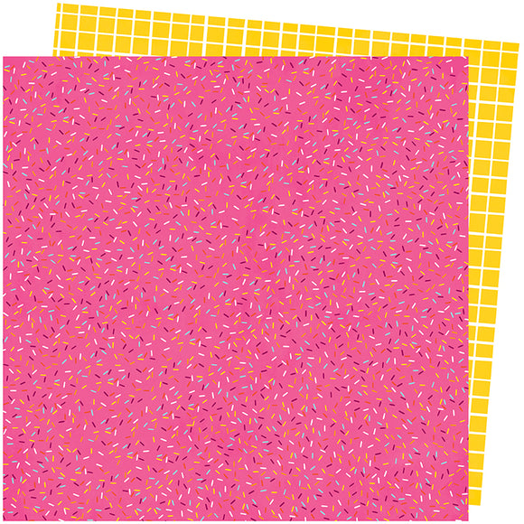 American Crafts Papers - Amy Tangerine - Slice of Life - Sprinkle - 2 Sheets