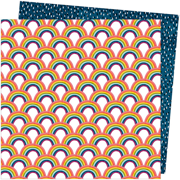 American Crafts Papers - Amy Tangerine - Slice of Life - Somewhere - 2 Sheets