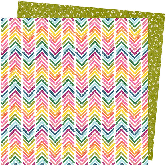 American Crafts Papers - Amy Tangerine - Slice of Life - Onward and Upward - 2 Sheets