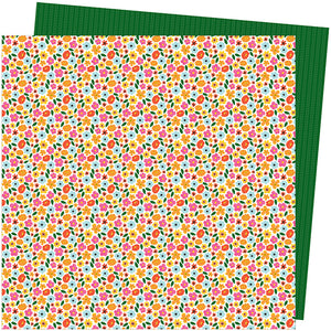 American Crafts Papers - Amy Tangerine - Slice of Life - Full Bloom - 2 Sheets