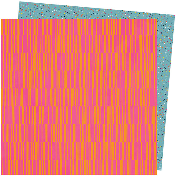 American Crafts Papers - Amy Tangerine - Slice of Life - Pink Lemonade - 2 Sheets