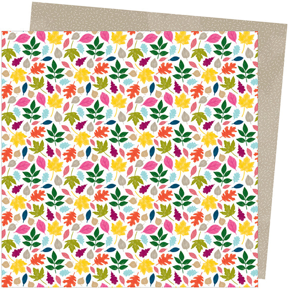 American Crafts Papers - Amy Tangerine - Slice of Life - Falling For You - 2 Sheets