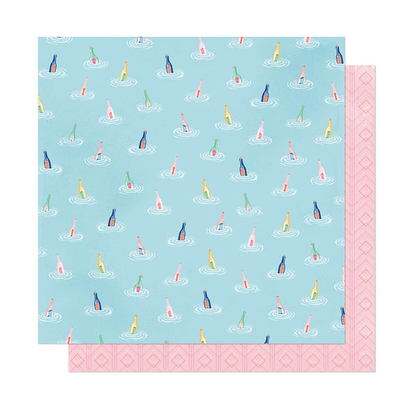 American Crafts Papers - Dear Lizzy - She's Magic - Across the Sea - 2 Sheets