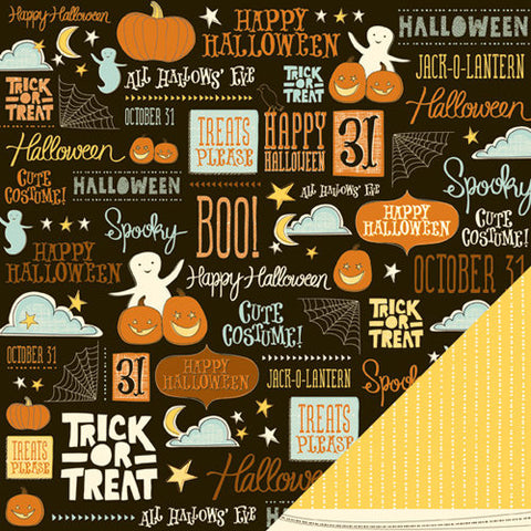 American Crafts Papers - Night Fall - Halloween Night - 2 Sheets