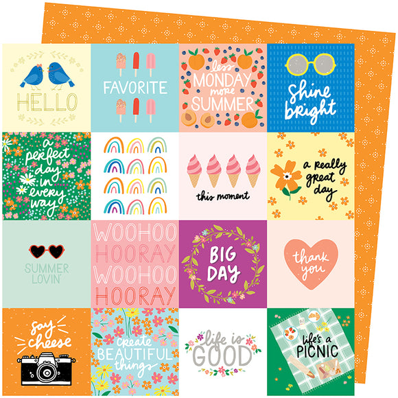 American Crafts Cut-Outs - Amy Tangerine - Picnic In the Park - Life's a Picnic
