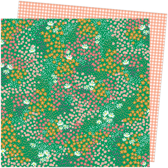 American Crafts Papers - Amy Tangerine - Picnic in the Park - Pretty Patches - 2 Sheets