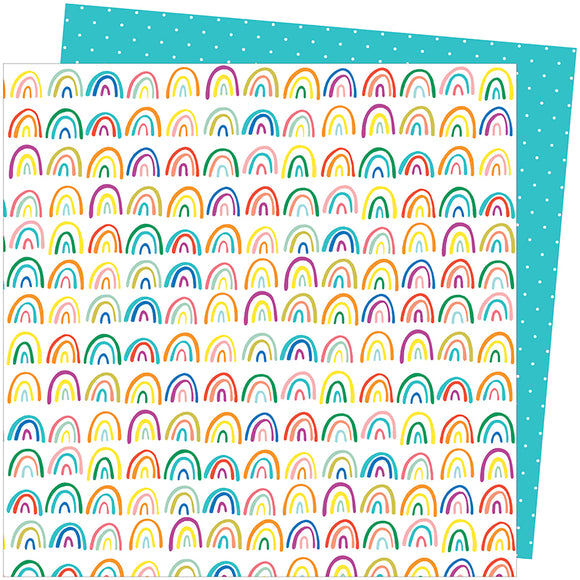 American Crafts Papers - Amy Tangerine - Picnic in the Park - All the Colors - 2 Sheets