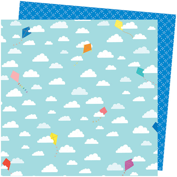 American Crafts Papers - Amy Tangerine - Picnic in the Park - All the Way Up - 2 Sheets