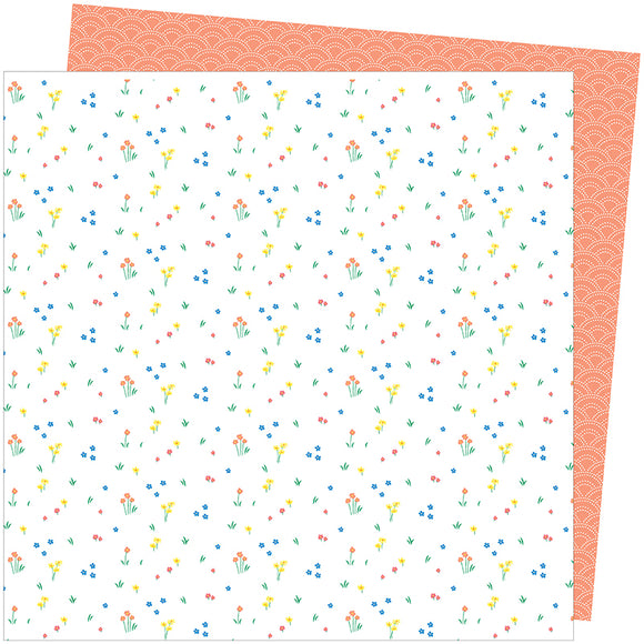 American Crafts Papers - Amy Tangerine - Picnic in the Park - Dainty Dots - 2 Sheets