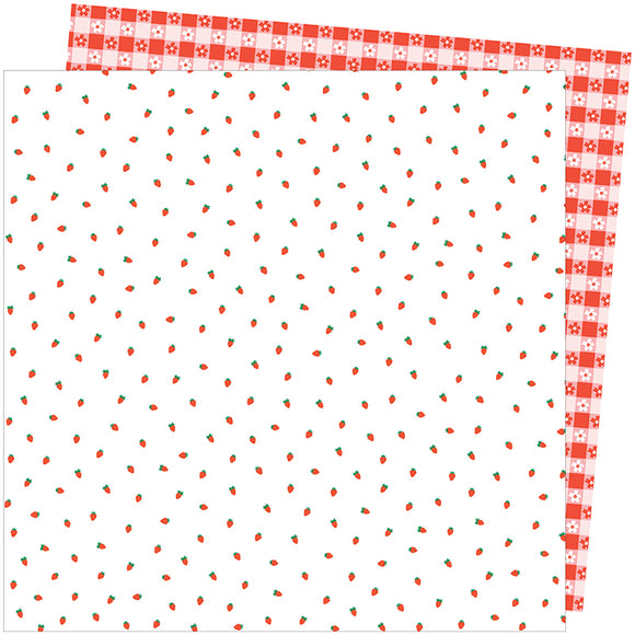 American Crafts Papers - Amy Tangerine - Picnic in the Park - Berry Sweet - 2 Sheets