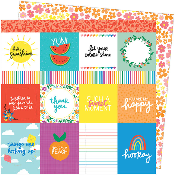 American Crafts Cut-Outs - Amy Tangerine - Picnic In the Park - You Are My Happy