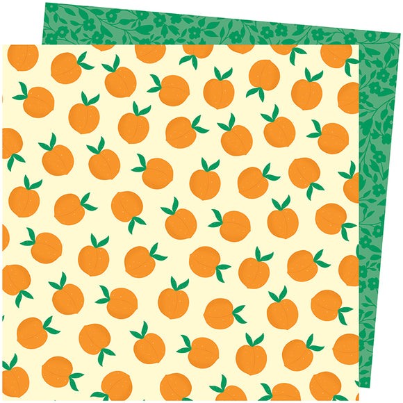 American Crafts Papers - Amy Tangerine - Picnic in the Park - You're Peachy - 2 Sheets