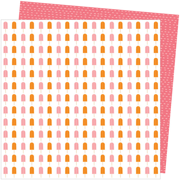 American Crafts Papers - Amy Tangerine - Picnic in the Park - Sweet Treat - 2 Sheets