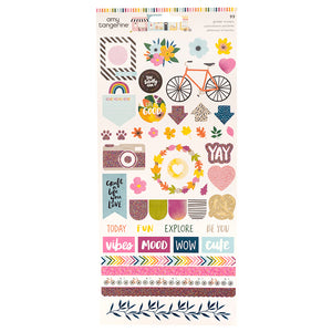 American Crafts Cardstock Stickers - Amy Tangerine - Slice of Life