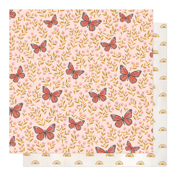 1Canoe2 Papers - Willow - Butterfly Garden - 2 Sheets