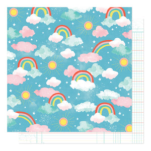 American Crafts Papers - Shimelle - Never Grow Up - Enchanted Sky - 2 Sheets