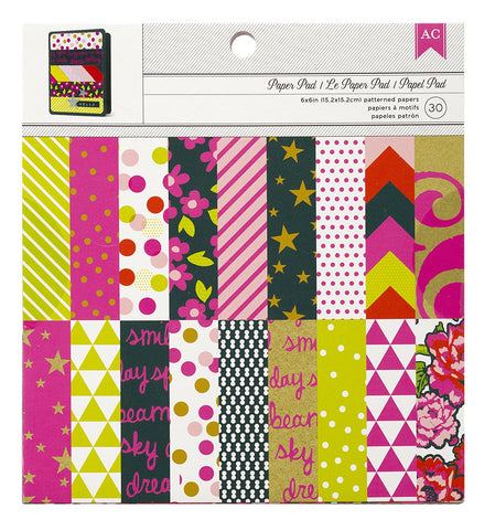American Crafts 6x6 Paper Pad - Neon