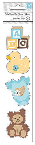 American Crafts Cardstock Stickers - Remarks - Baby Boy - Blocks