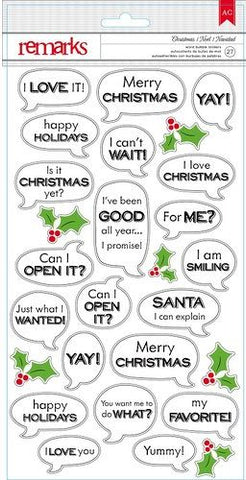American Crafts Cardstock Stickers - Christmas Word Bubbles