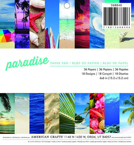 American Crafts 6x6 Paper Pad - Paradise