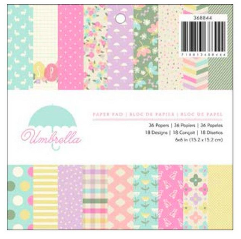 American Crafts 6x6 Paper Pad - Umbrella