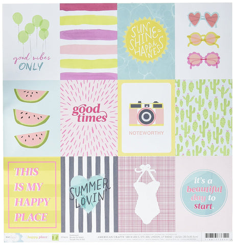 American Crafts Cut-Outs - Dear Lizzy - Happy Place - Sunkissed