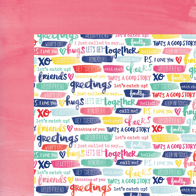 American Crafts Papers - Amy Tangerine - Better Together - Cut + Paste - 2 Sheets