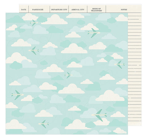 American Crafts Papers - Go Now Go - Fly - 2 Sheets
