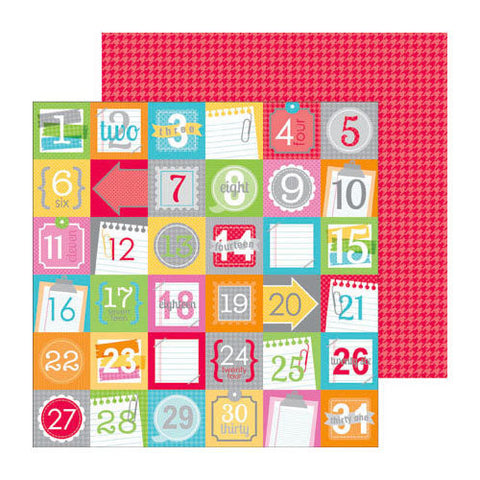 Doodlebug Design Papers - Take Note - Countdown - 2 Sheets