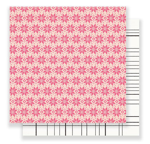 Crate Paper Papers - Snow & Cocoa - Fallen Snow - 2 Sheets