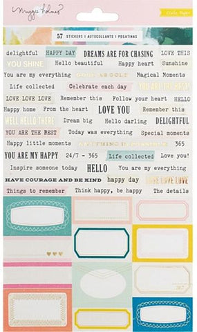 Crate Paper Cardstock Stickers - Maggie Holmes - Chasing Dreams Phrases