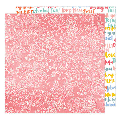 American Crafts Papers - Oh Happy Life - Sweet Things - 2 Sheets