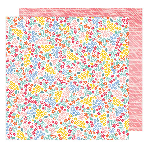 American Crafts Papers - Oh Happy Life - Sweetie  - 2 Sheets