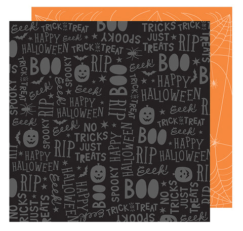 American Crafts Papers - Halloween - Spooktacular - 2 Sheets