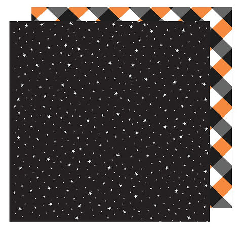 American Crafts Papers - Halloween - Starry Night - 2 Sheets