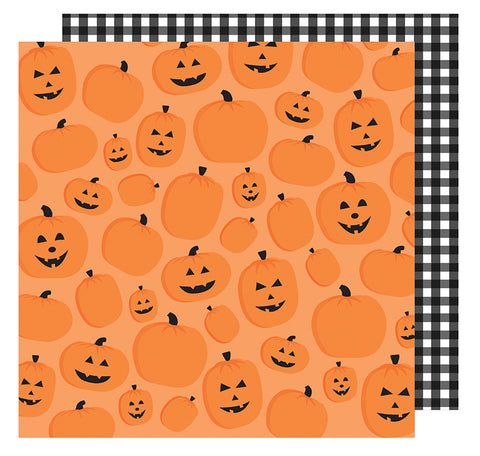 American Crafts Papers - Halloween - Pumpkin Patch - 2 Sheets