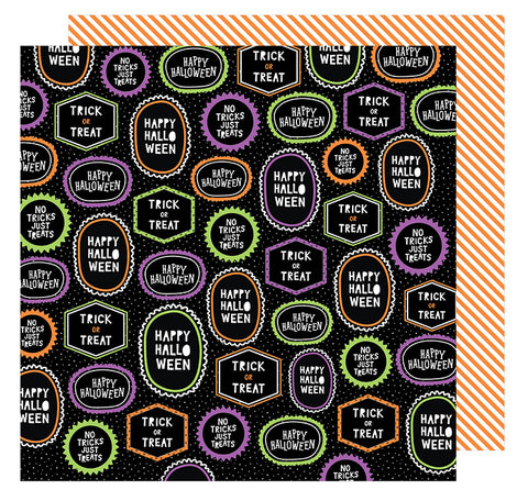American Crafts Papers - Halloween - Happy Halloween - 2 Sheets
