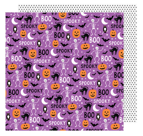 American Crafts Papers - Halloween - Scared Cat - 2 Sheets