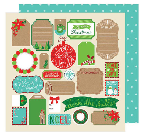 American Crafts Cut-Outs - All Wrapped Up - Tags