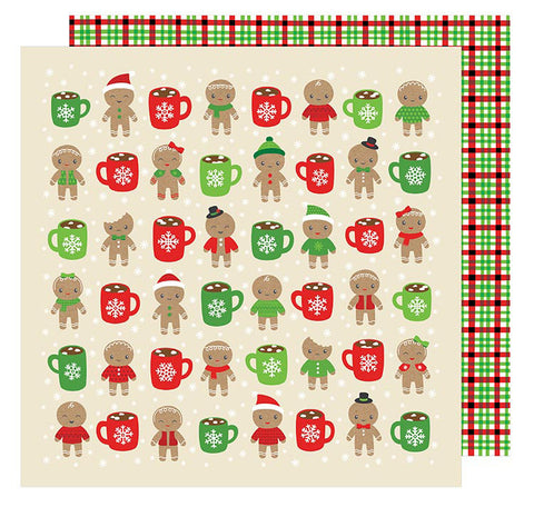 American Crafts Papers - All Wrapped Up - Hot Cocoa - 2 Sheets