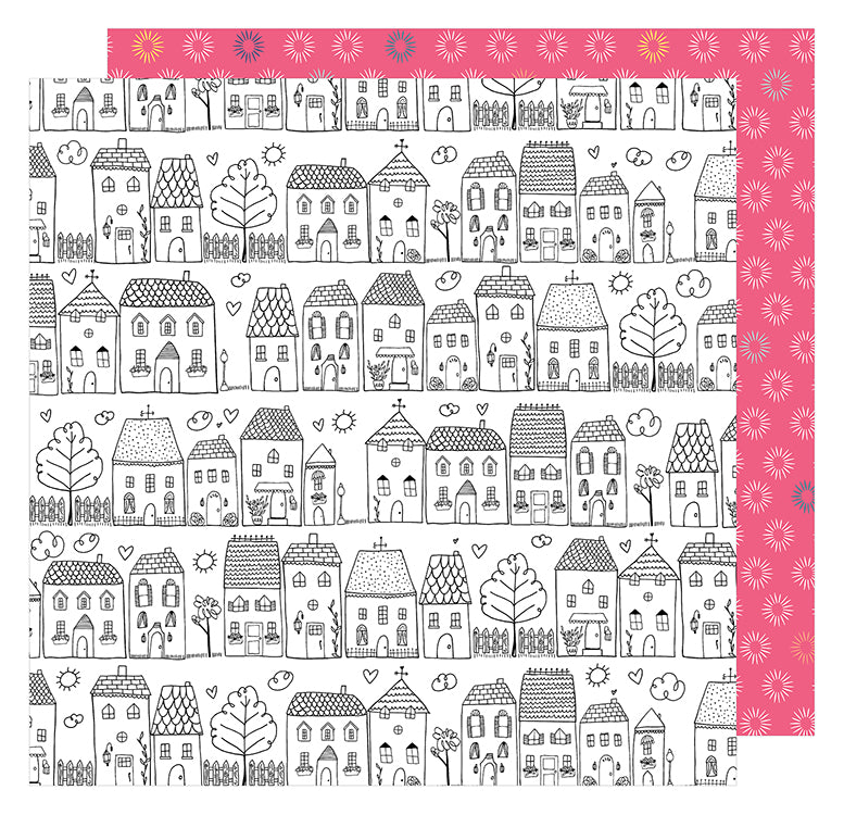 American Crafts Papers - Dear Lizzy - Lovely Day - One Fine Day - 2 Sheets