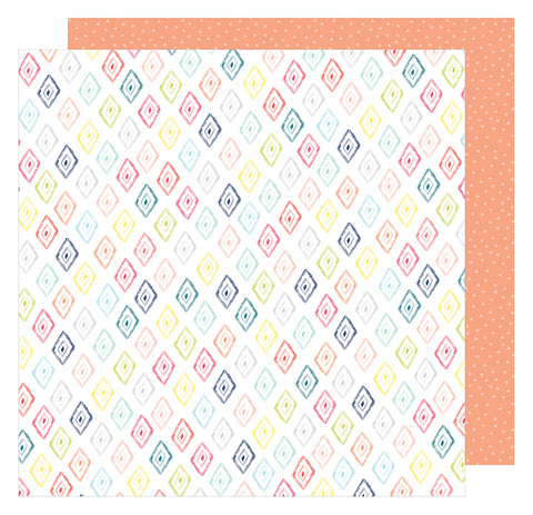American Crafts Papers - Dear Lizzy - Lovely Day - Diamonds Forever - 2 Sheets