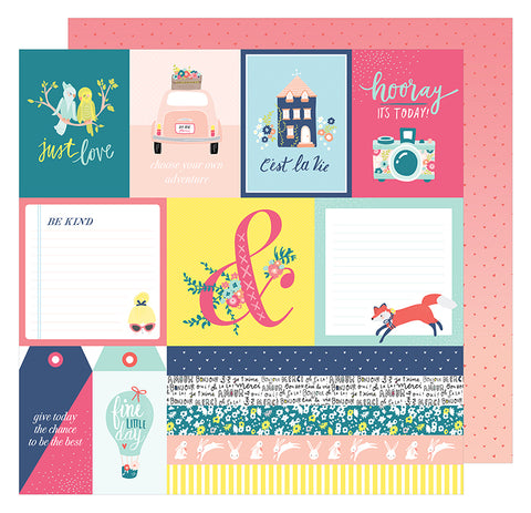 American Crafts Cut-Outs - Dear Lizzy - Lovely Day - C'est La Vie